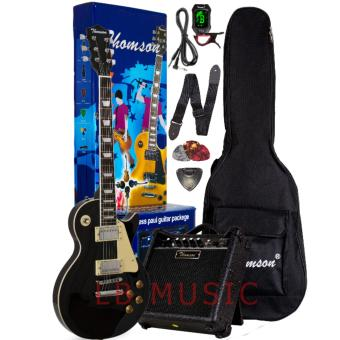 Harga Thomson Les Paul w/ heavy duty amp, tuner and Complete accessories Package Electric Guitar (Black)