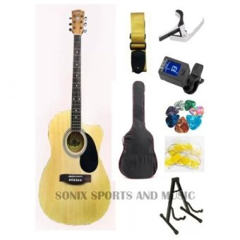 Harga Lyon by Washburn 4EQ Acoustic Electric Guitar Starter Package (Natural)