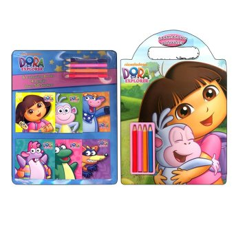WS Nickelodeon Dora the Explorer Coloring & Carry Along Activities with Pencils Set of 2 Price Philippines