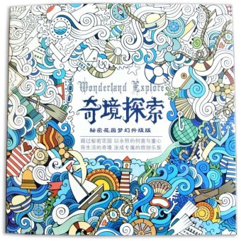 Harga Wonderland Explore Coloring Book