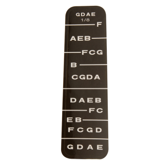 Harga BolehDeals 1 Violin Fiddle Fingerboard Stickers Fret Marker Labels Fingering Chart 1/8 - intl
