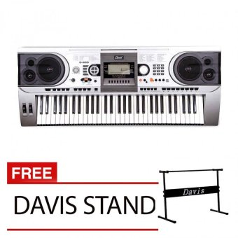 Harga Davis D-955 Digital Keyboard with Free Davis Stand (Silver)