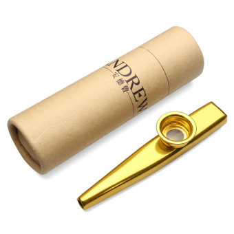 Harga Andrew Metal Kazoo Best Companion With Ukulele Guitar Gold - Intl