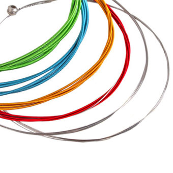 OEM Colorful Acoustic Guitar Strings - 1 M - Rainbow - 6 Buah Price Philippines