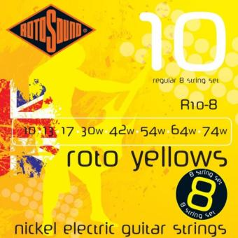 Harga RotoSound Nickel Electrics Roto Yellows 8-String, .010 - .074, R10-8