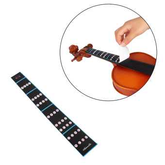 Harga 4/4 Violin Fiddle Finger Guide Fingerboard Sticker Label Intonation Chart Fretboard Marker for Practice Beginners - intl