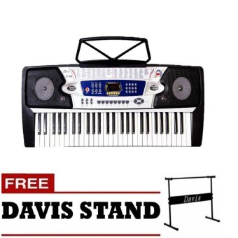 Harga Davis D-108 Digital Keyboard (Black) with FREE Davis Stand