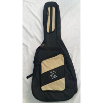 Harga Griffinberg Acoustic Padded Guitar Case (Black/Cream)