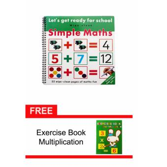 Harga Simple Math Activity Book with Free Exercise Book Multiplication