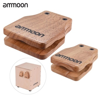 Harga ammoon Large & Medium 2pcs Cajon Box Drum Companion Accessory Castanets for Hand Percussion Instruments - intl