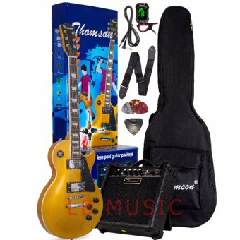 Harga Thomson Les Paul w/ heavy duty amp, tuner and Complete accessories Package Electric Guitar (Blue)