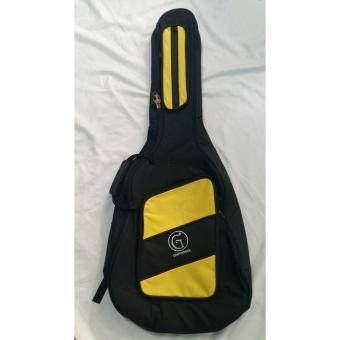Harga Griffinberg Acoustic Guitar Padded Bag (Black/Yellow)