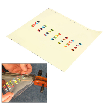 Harga Fiddle Violin Fingerboard Stickers Fret Marker Labels Fingering Chart 4/4