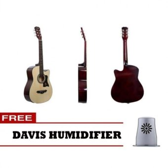 Harga Davis JG-38 Acoustic Guitar (Natural) with FREE Davis Humidifier