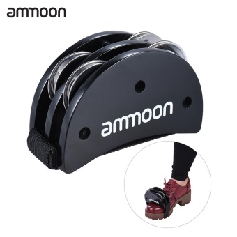 Harga ammoon Elliptical Cajon Box Drum Companion Accessory Foot Jingle Tambourine for Hand Percussion Instruments Black - intl