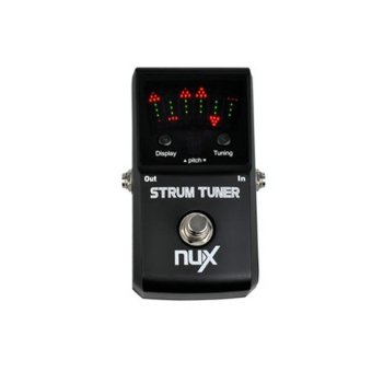 Harga Strum Tuner Polyphonic Strum Pedal Tuner Tuning Pedal Electric Acoustic Guitar Bass Multi String Guitar Pedal Tuner