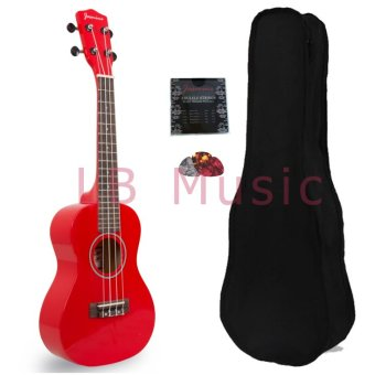 Jasmine Concert Colored Ukulele Ukelele (Red)