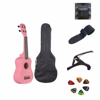 Jasmine Concert Packaged Colored Ukulele (Pink)
