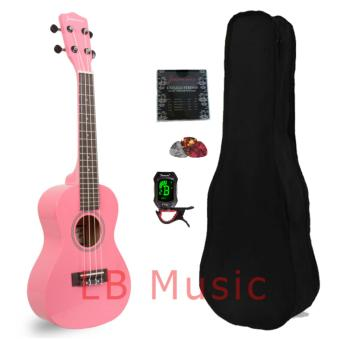 Jasmine Concert with tuner Colored Ukulele Ukelele complete set(Pink)