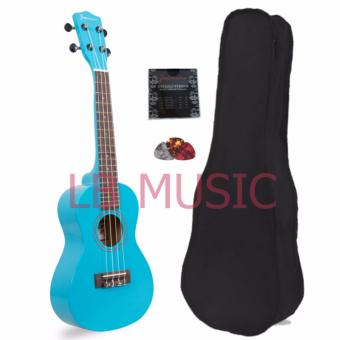 Jasmine Soprano Colored Ukulele Ukelele Complete Set (Light Blue)