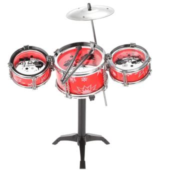 Jazz Drum Playset Percussion Musical Instrument IntelligenceEducational Toy for Boy Girl Kids Baby Children Gift RED