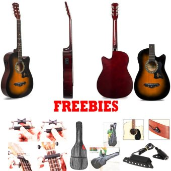 JG-38 EQ2 Gift Deals Bundles Acoustic Guitars (Sunburst)