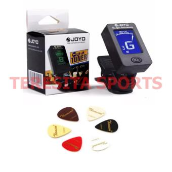 Joyo Clip on Guitar Tuner JT-01 with 5pcs Guitar Pick (Black)