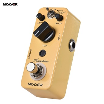 MOOER Acoustikar Acoustic Guitar Simulator Effect Pedal True Bypass with 3 Modes (Piezo/Standard/Jumbo) - intl