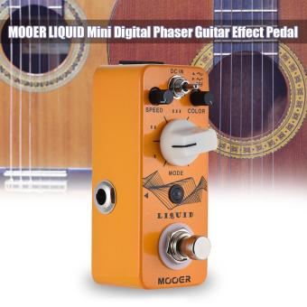 MOOER LIQUID Mini Digital Phaser Guitar Effect Pedal True Bypass Full Metal Shell Outdoorfree - intl