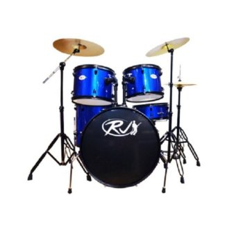RJ Drum Set with Ride Cymbals (Blue) Price Philippines