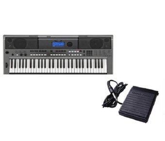 Yamaha PSR E443 Portable Keyboard Black with Sustain Pedal