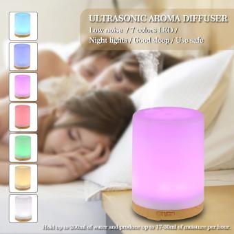 200ml Cool Mist Humidifier 7 Colors LED light Ultrasonic Aroma Essential Oil Diffuser Air Humidifier for Home Office Bedroom SPA Yoga us plug - intl Price Philippines