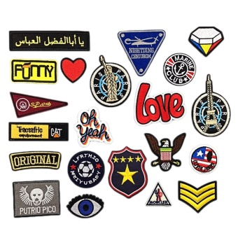 21 PCS Assorted Styles Embroidery DIY Clothes Patches VariousBadges Patches for T-shirt Jeans Clothing Bags - intl