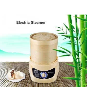 3-layer Electric Steamer Bamboo Material Food Steamer Bamboo Steamer - intl