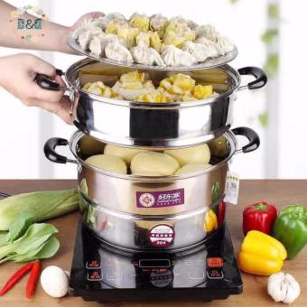 D&D Stainless Steel Steamer Cookware Multi-functional Three Layers