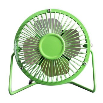 D&D Super Mute 360-degree Rotating Metal Blade USB Mini DesktopCooling Electric Fan (Green) Price Philippines