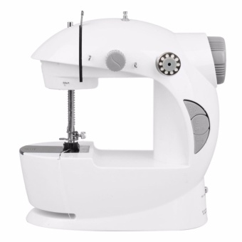 Empire 2 Speed Mini Electric Sewing Machine with Free Accessories (White/Gray)