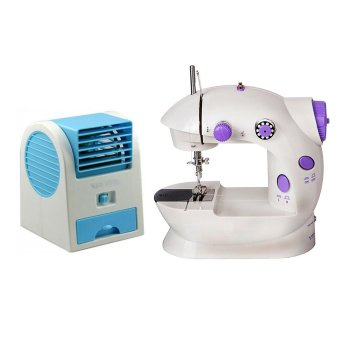 GMY Portable Handheld Mini Electric/Charger Powered Sewing MachineWith USB Mini Air Conditioning Fan Cooler (Blue)