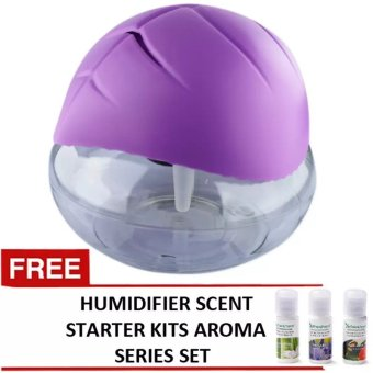 Good Air Refreshen Air Purifier (Purple) with FREE Humidifier ScentStarter Kits Aroma Series A Set of 3