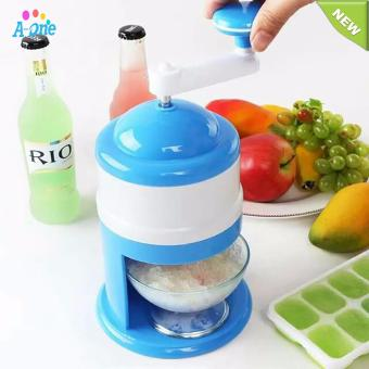 Handhold mini Manual Ice Crusher Shaver Machine Grinding Snow ConeMaker Machine Household Party DIY Ice Cream Candy Frappe