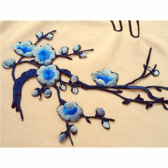 Hanyu Plum Blossom Flower Applique Clothing Embroidery Patch FabricSticker Iron On Sew On Patch Craft Sewing