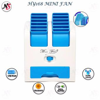 HY168 Mini Fan 2.5W Air Conditioning for Summer Cooling With USB Plug (Blue)