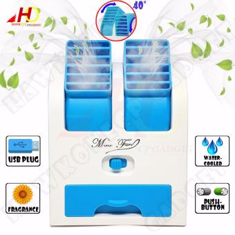 HY168 Mini Fan 2.5W Air Conditioning for Summer Cooling With USBPlug (Blue)