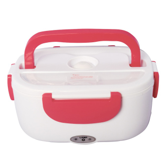 Harga LAMP Three Layers Electronic Heating Lunch Box (Pink)