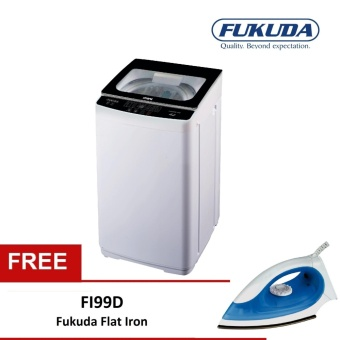 Harga Fukuda FAWM48 4.8kg Fully Automatic Washing Machine bundle with Flat Iron FI99D