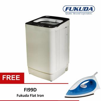 Harga Fukuda FAWM70 7kg Fully Automatic Washing Machine with FREE Flat Iron FI99D