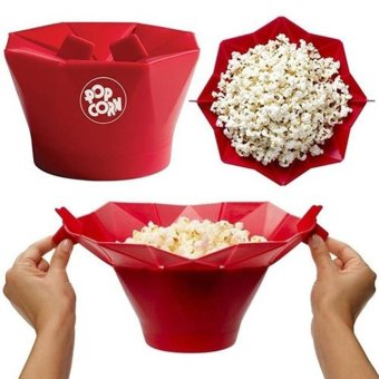 Harga Moonar Foldable microwave silicone popcorn maker home accessories - intl