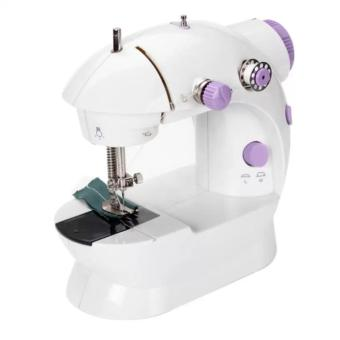 Harga verygood- Microbishi MSM-202A There is light 2-Speed Mini Electric Sewing Machine Kit (White/Lavender)
