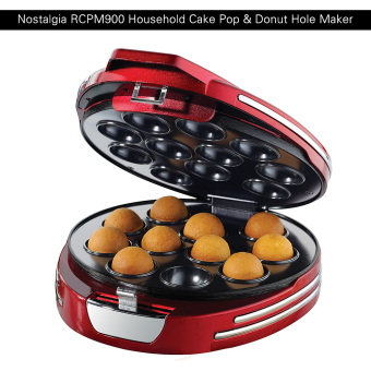 Harga Nostalgia 50s-Style Household Mini Electric Cake Pop & Donut Hole Maker Machine Baker - intl