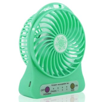 Homu Portable Mini USB Rechargeable Portable Cooling Fan (Green) Price Philippines
